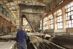 ЖБК-5. 2008 р.  Подача бетонної суміші баддєю